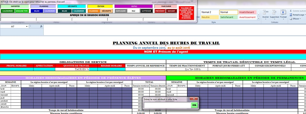 Acad Planning Application Qui Calcule Le Temps De Travail